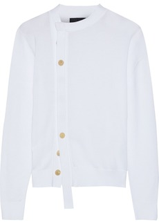 Joseph Woman Asymmetric Cotton Cardigan White