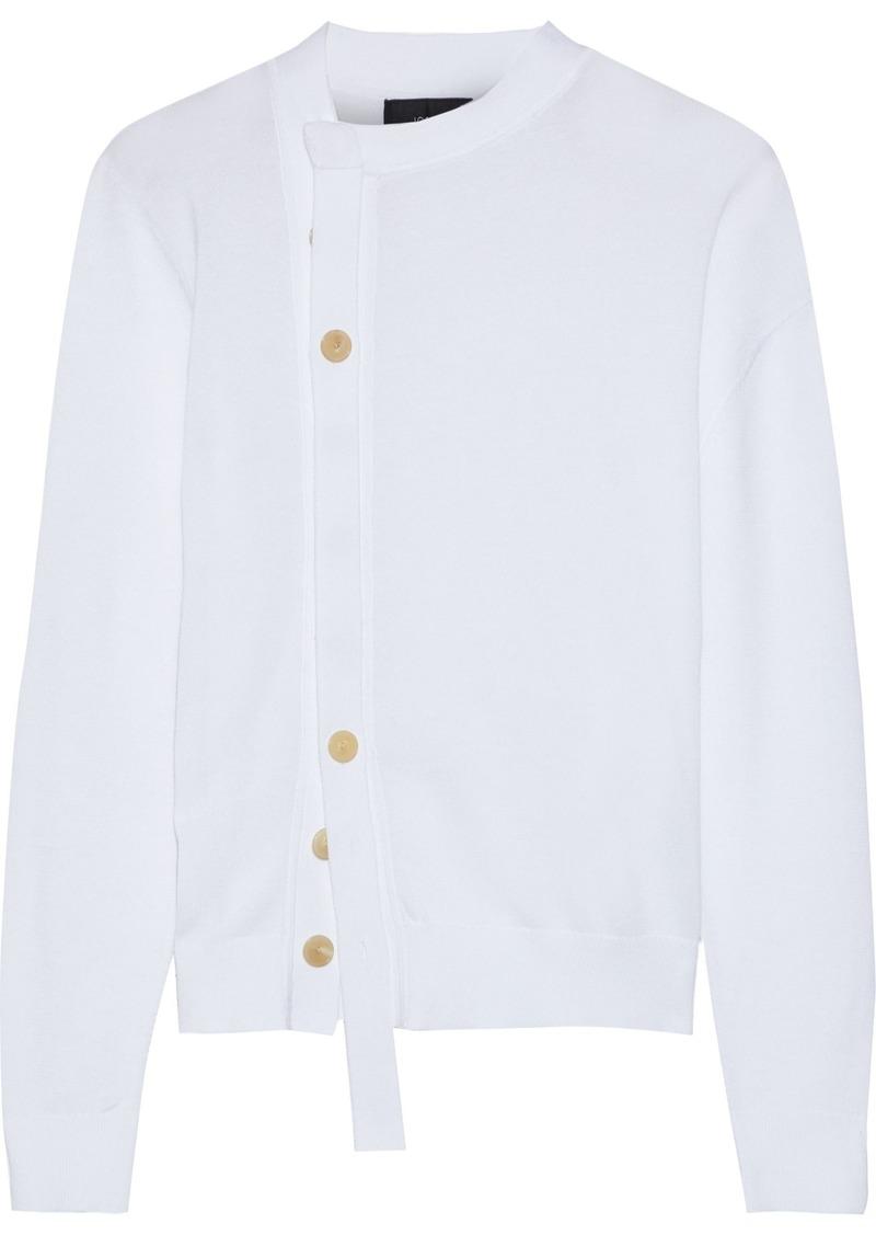 Joseph Woman Asymmetric Cotton Cardigan White
