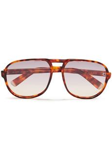 Joseph Woman Aviator-style Tortoiseshell Acetate Sunglasses Light Brown
