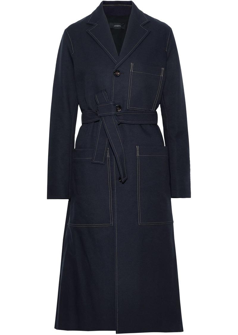 Joseph Woman Belted Twill Coat Midnight Blue
