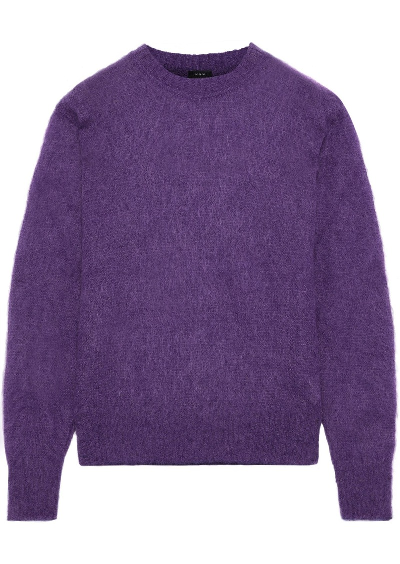 Joseph Woman Brushed Mohair-blend Sweater Violet