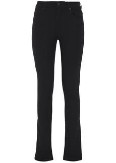 Joseph Woman Cloud Stretch-gabardine Slim-leg Pants Black