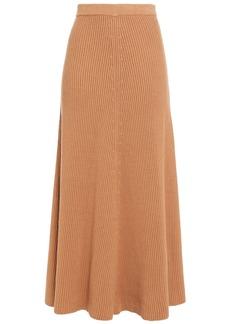 Joseph Woman Ribbed Cotton Midi Skirt Sand