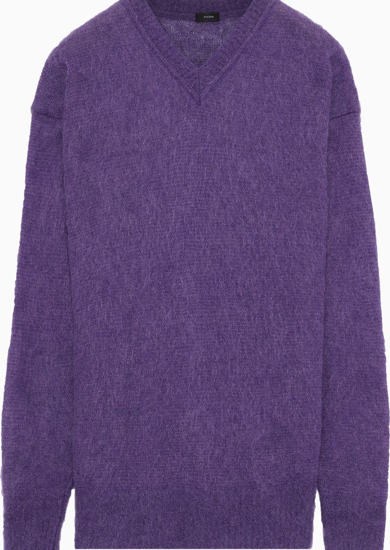 Joseph Woman Oversized Mohair-blend Sweater Purple