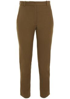 Joseph Woman New Eliston Cropped Stretch-gabardine Slim-leg Pants Army Green