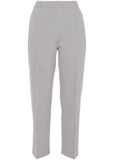 Joseph Woman Dalton Cropped Wool-blend Twill Tapered Pants Stone