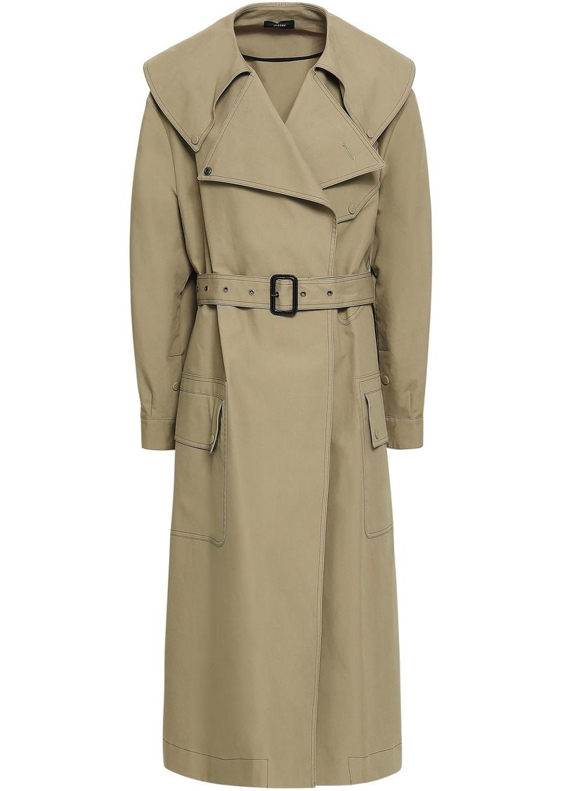 Joseph Woman Damon Oversized Cotton-garbardine Trench Coat Sage Green
