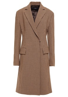 Joseph Woman Double-breasted Houndstooth Woven Coat Sand