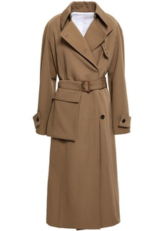 Joseph Woman Double-breasted Wool-gabardine Trench Coat Light Brown