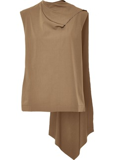 Joseph Woman Draped Wool Top Light Brown