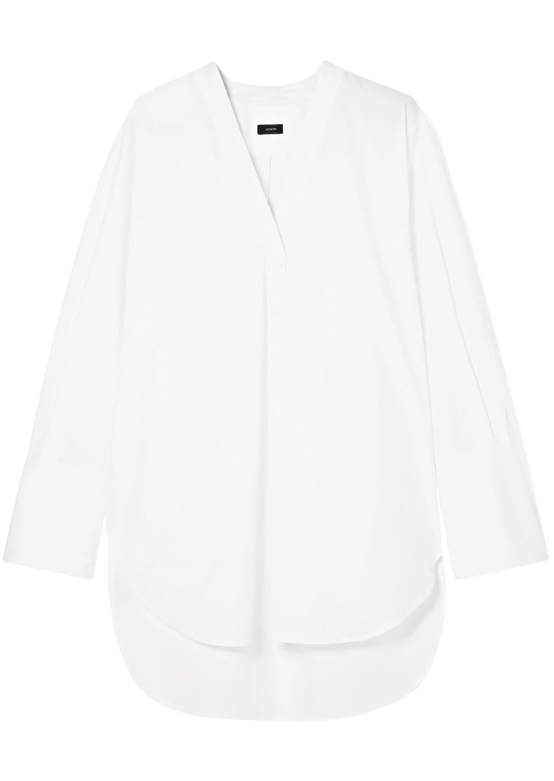 Joseph Woman Eamon Oversized Cotton-poplin Shirt White