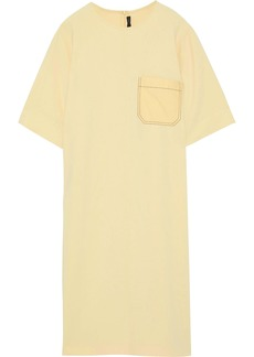Joseph Woman Ellis Poplin-paneled Crepe De Chine Dress Pastel Yellow