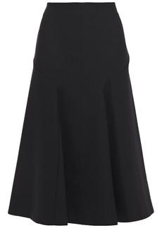 Joseph Woman Gaby Pleated Wool-blend Twill Midi Skirt Black
