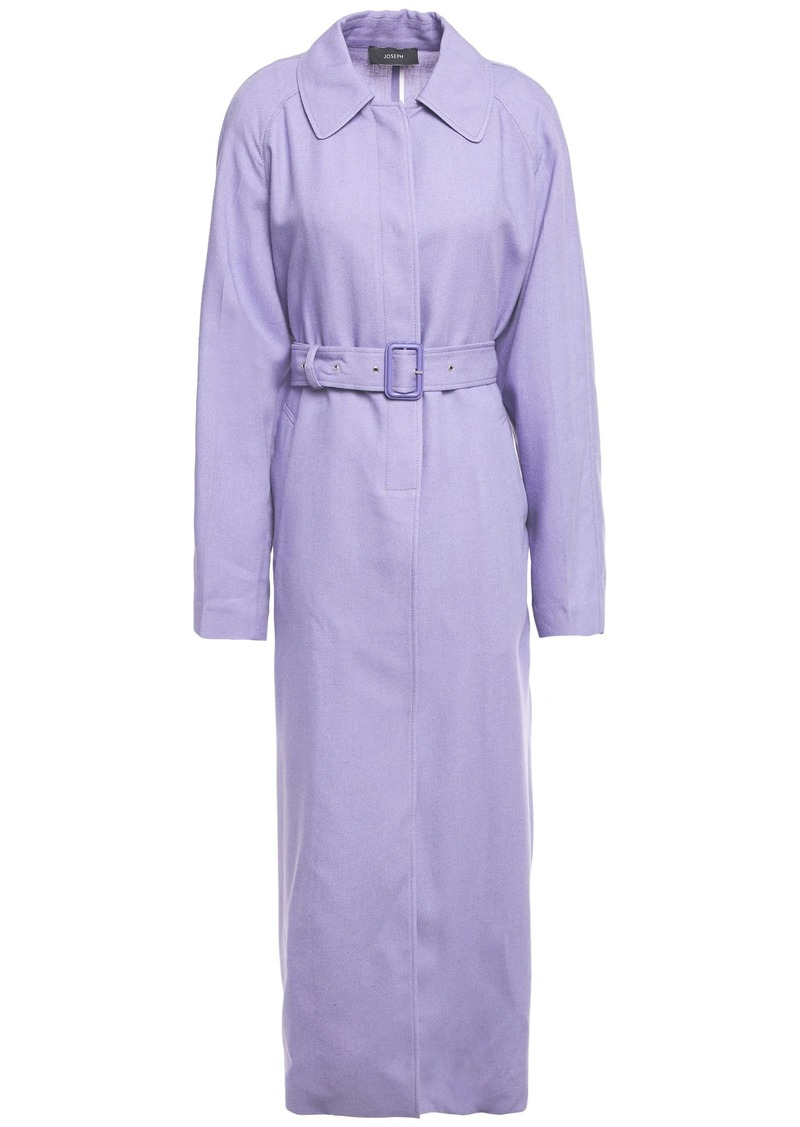 Joseph Woman Harris Belted Woven Trench Coat Lavender