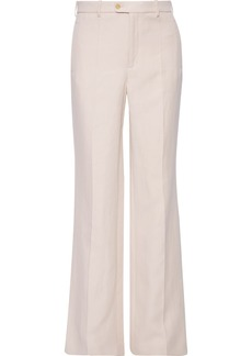 Joseph Woman Kosta Ramie And Cotton-blend Twill Bootcut Pants Taupe