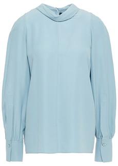 Joseph Woman Laurel Washed-silk Blouse Light Blue