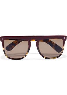 Joseph Woman Madison Oversized D-frame Tortoiseshell Acetate Sunglasses Burgundy