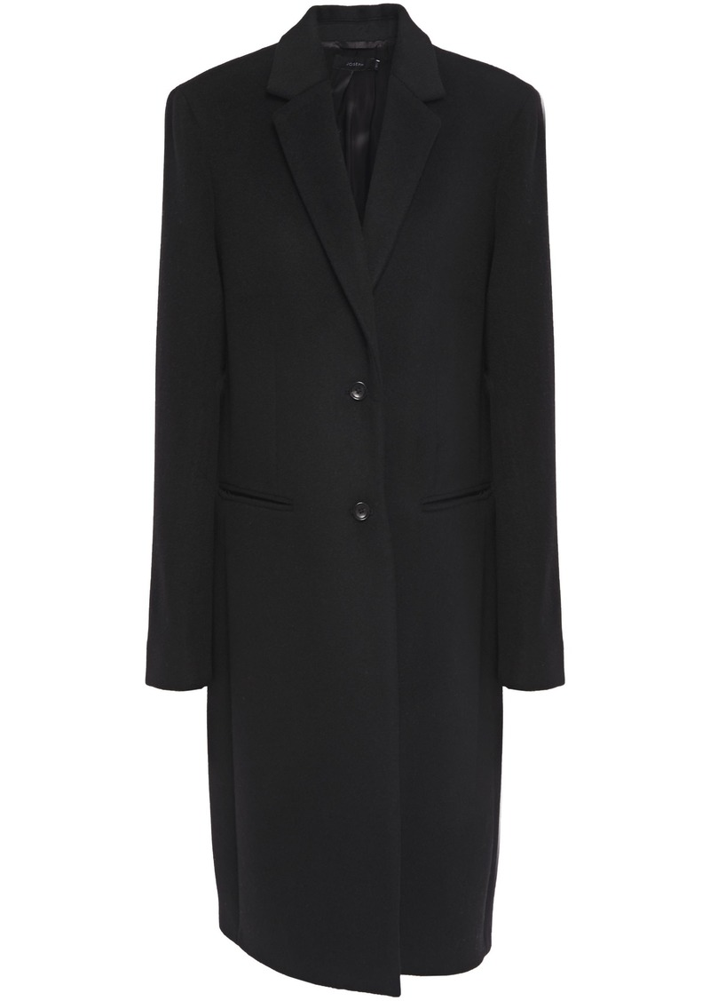 Joseph Woman Martin Wool And Cashmere-blend Felt Coat Black