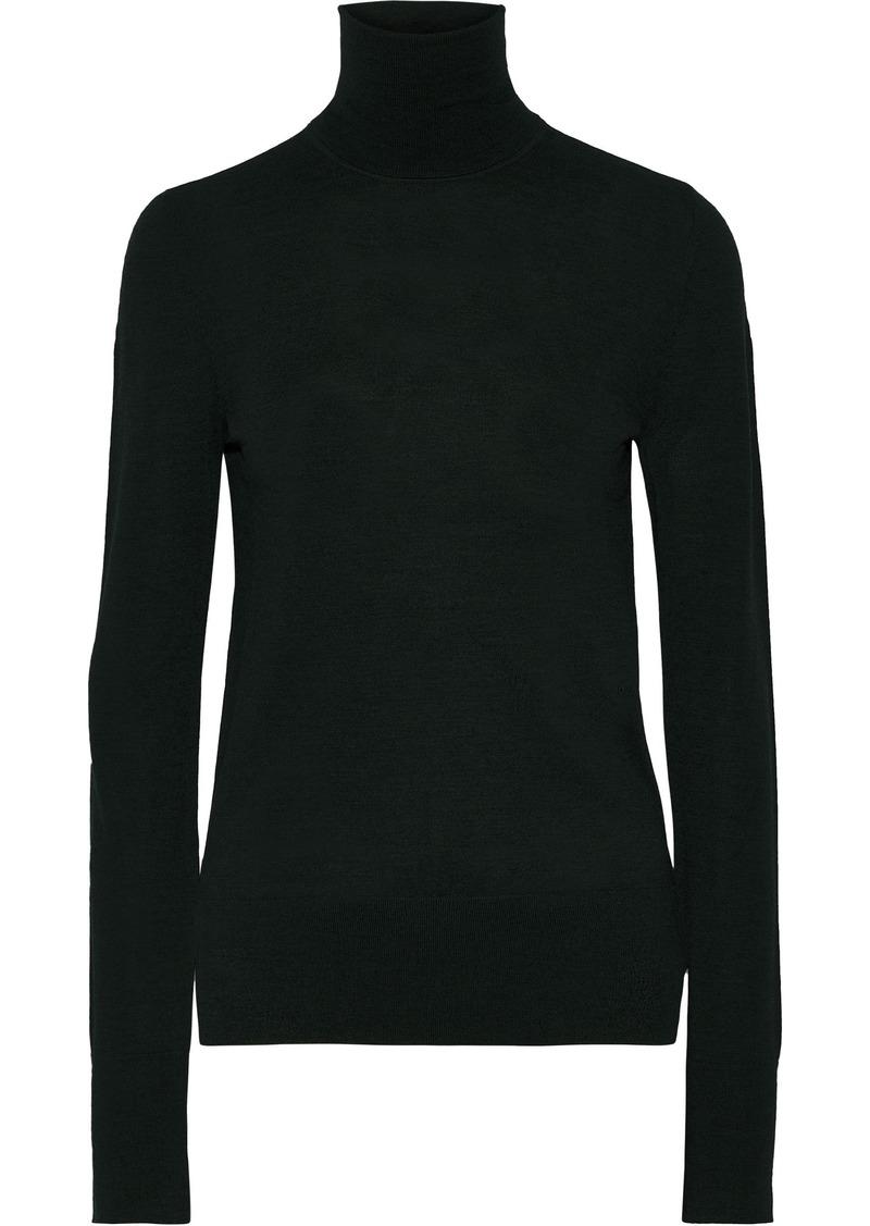 Joseph Woman Wool Turtleneck Sweater Forest Green