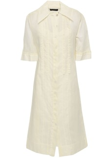 Joseph Woman Molly Ruffle-trimmed Cotton-organza Midi Shirt Dress Cream
