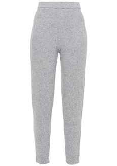 Joseph Woman Mouline Mélange Merino Wool Track Pants Gray