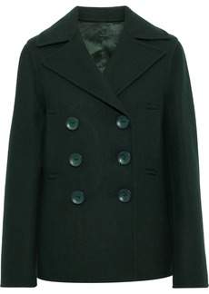 Joseph Woman New Hector Double-breasted Wool-blend Peacoat Forest Green