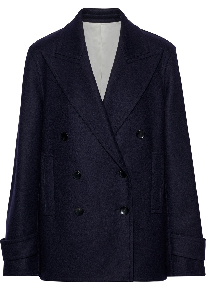 Joseph Woman Optima Wool-blend Coat Navy