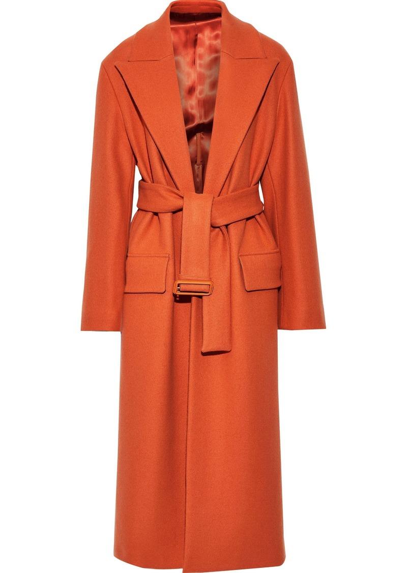 Joseph Woman Patrice Belted Wool-blend Felt Coat Orange