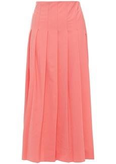 Joseph Woman Pleated Wool-blend Midi Skirt Bubblegum
