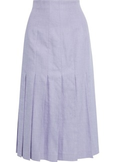 Joseph Woman Pleated Woven Midi Skirt Lilac