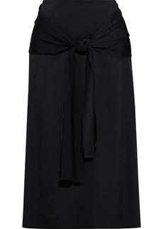 Joseph Woman Renne Draped Cady Midi Skirt Black