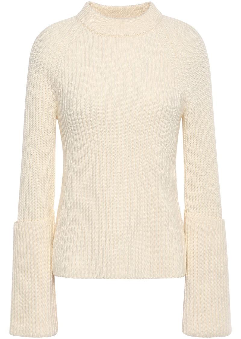 Joseph Woman Ribbed Wool Sweater Cream