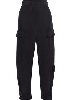 Joseph Woman Ronni Washed-silk Wide-leg Pants Black