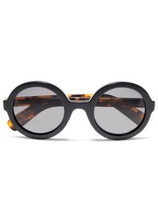 Joseph Woman Round-frame Tortoiseshell Acetate Sunglasses Black