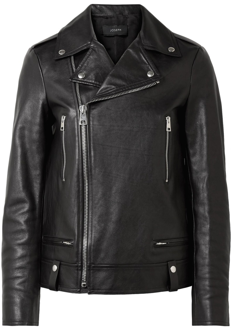 Joseph Woman Ryder Leather Biker Jacket Black