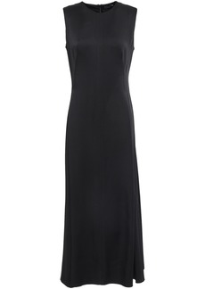 Joseph Woman Satin-crepe Midi Dress Black