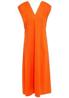 Joseph Woman Sienna Button-detailed Cady Midi Dress Orange