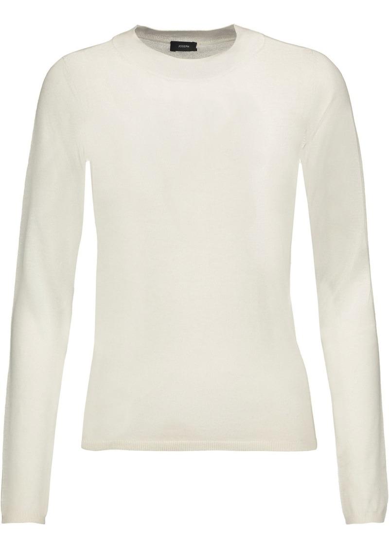 Joseph Woman Silk And Cashmere-blend Sweater Ecru