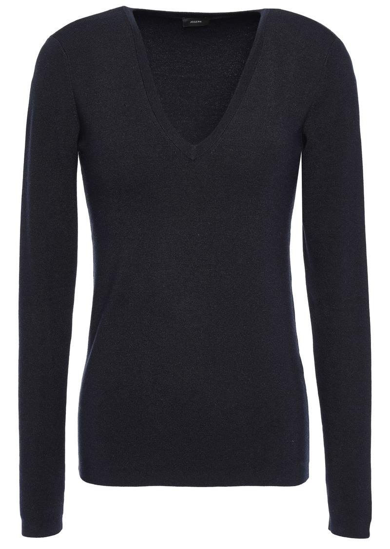 Joseph Woman Silk-blend Sweater Navy