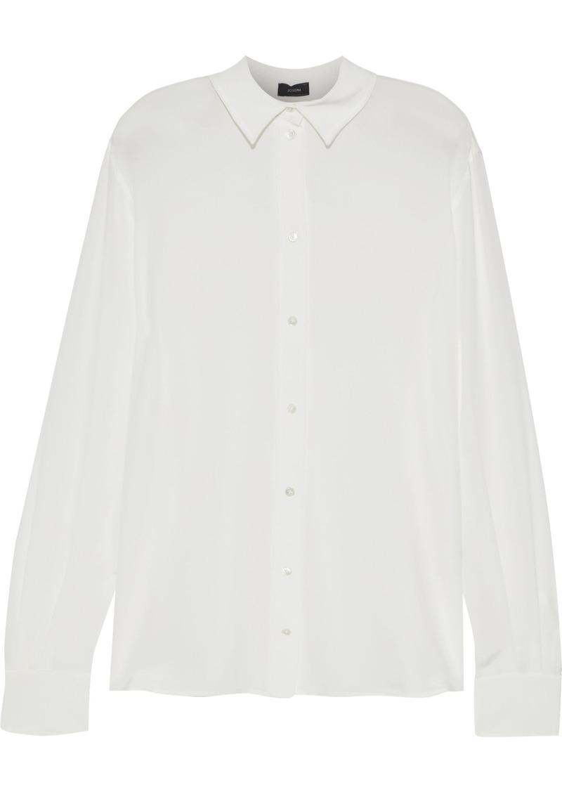 Joseph Woman Silk-crepe Shirt Off-white