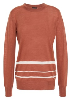 Joseph Woman Striped Cashmere-blend Sweater Brown