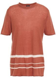 Joseph Woman Striped Cashmere-blend Top Brown
