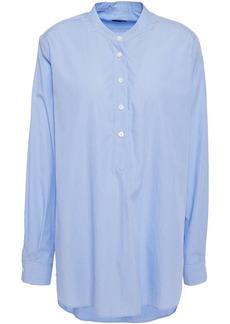 Joseph Woman Striped Cotton-poplin Shirt Light Blue