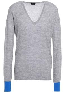 Joseph Woman Two-tone Cashmere Sweater Stone