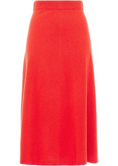 Joseph Woman Wool And Cashmere-blend Midi Skirt Papaya