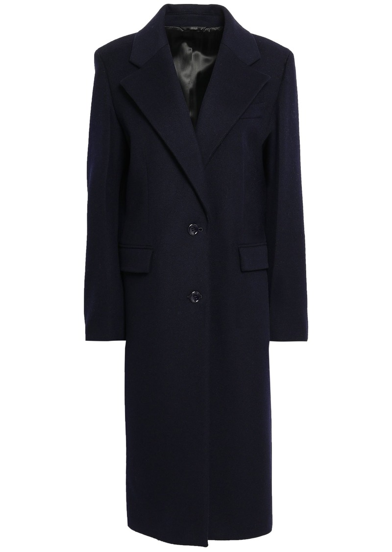Joseph Woman Wool-blend Felt Coat Navy