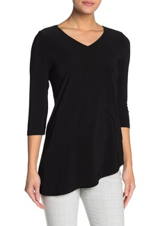 Joseph Layered Zigzag Asymmetrical Hem Tunic