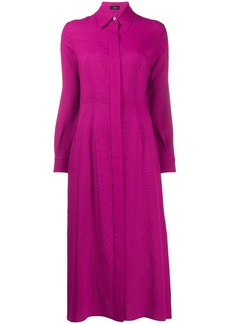 Joseph long-sleeve flared shirt dress