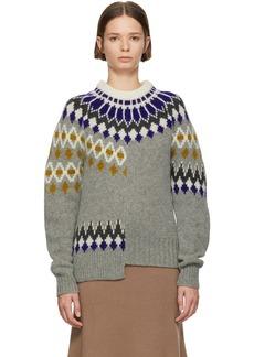 Joseph Multicolor Fair Isle Patchwork Sweater