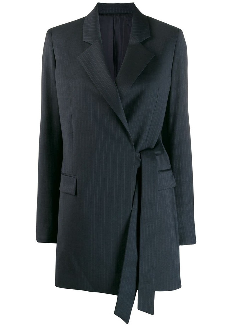 Joseph pinstripe wrap blazer